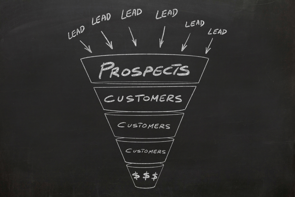 Sales Funnel Depiction